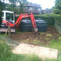Excavtion of contaminated soil round oil tanks