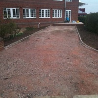 new driveway access subbase with cross fall